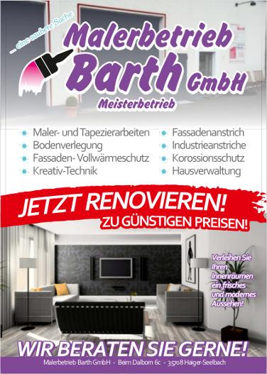 malerbetrieb barth haigerseelbach malerarbeiten. Black Bedroom Furniture Sets. Home Design Ideas